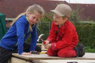Kinderen hadden zichtbaar plezier/foto Henk klein Hazebroek