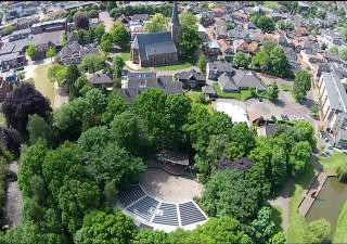 Overview drone Openluchttheater Eibergen, foto PR Openluchttheater Eibergen