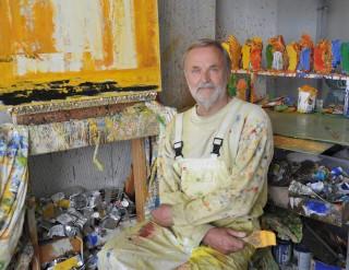 Henk Lassche in atelier